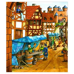 Carcassonne Castle Small By Dean   Drawstring Pouch (small)   V1lgvnbpi580   Www Artscow Com Front