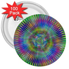 Hypnotic Star Burst Fractal 3  Button (100 Pack) by StuffOrSomething