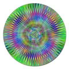 Hypnotic Star Burst Fractal Magnet 5  (Round) by StuffOrSomething