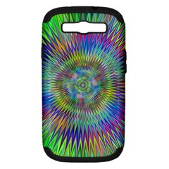Hypnotic Star Burst Fractal Samsung Galaxy S Iii Hardshell Case (pc+silicone) by StuffOrSomething