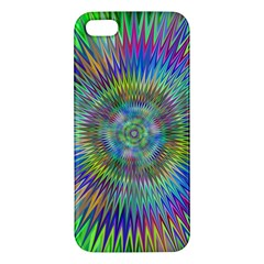 Hypnotic Star Burst Fractal Apple Iphone 5 Premium Hardshell Case by StuffOrSomething