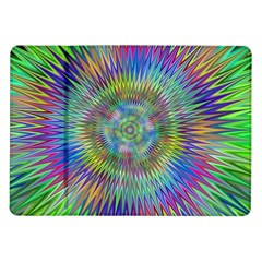 Hypnotic Star Burst Fractal Samsung Galaxy Tab 10 1  P7500 Flip Case by StuffOrSomething