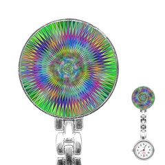 Hypnotic Star Burst Fractal Stainless Steel Nurses Watch by StuffOrSomething
