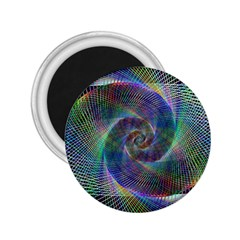 Psychedelic Spiral 2 25  Button Magnet by StuffOrSomething