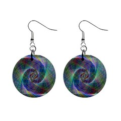 Psychedelic Spiral Mini Button Earrings by StuffOrSomething