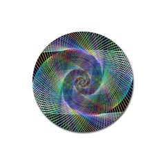 Psychedelic Spiral Magnet 3  (round) by StuffOrSomething