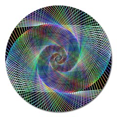 Psychedelic Spiral Magnet 5  (round) by StuffOrSomething