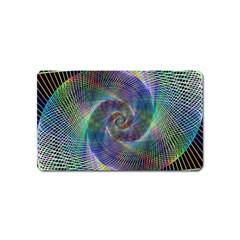 Psychedelic Spiral Magnet (name Card) by StuffOrSomething