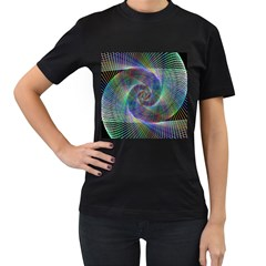 Psychedelic Spiral Women s Two Sided T Shirt (black) by StuffOrSomething