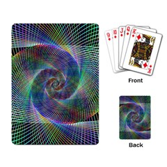 Psychedelic Spiral Playing Cards Single Design by StuffOrSomething