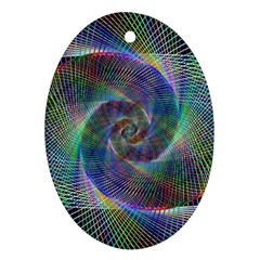Psychedelic Spiral Oval Ornament (two Sides) by StuffOrSomething