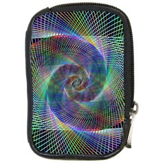 Psychedelic Spiral Compact Camera Leather Case by StuffOrSomething