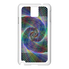 Psychedelic Spiral Samsung Galaxy Note 3 N9005 Case (white) by StuffOrSomething