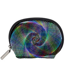 Psychedelic Spiral Accessory Pouch (small) by StuffOrSomething