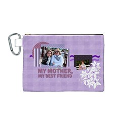 Mothers Day By Mom   Canvas Cosmetic Bag (medium)   V73p98znju7d   Www Artscow Com Front