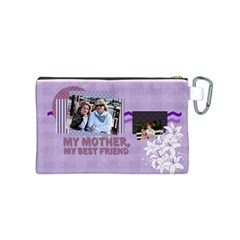 Mothers Day By Mom   Canvas Cosmetic Bag (small)   7xsuhrex689z   Www Artscow Com Back