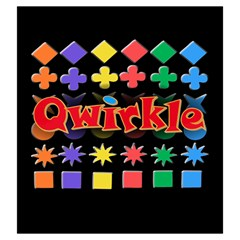 Qwirkle Bag By Dean   Drawstring Pouch (large)   W57pi8ogyebk   Www Artscow Com Front