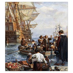 New World Carcassonne Draw Bag By Dean   Drawstring Pouch (large)   Gqt5dmsoso3f   Www Artscow Com Front