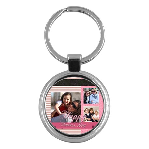 Mothers Day By Mom   Key Chain (round)   Aczaq76cjnu3   Www Artscow Com Front