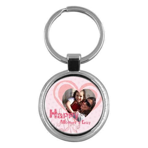 Mothers Day By Mom   Key Chain (round)   S5rbuairy8fc   Www Artscow Com Front