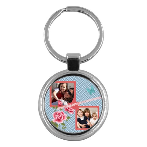 Mothers Day By Mom   Key Chain (round)   Jqt3vmb2bluq   Www Artscow Com Front
