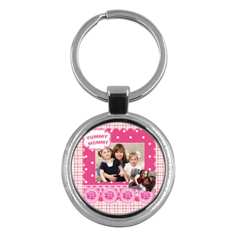 Mothers Day By Mom   Key Chain (round)   Mr9t7ouij6se   Www Artscow Com Front
