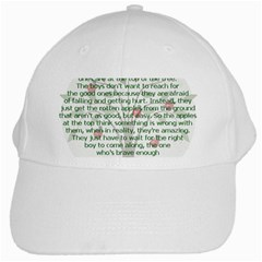 Girls Are Like Apples White Baseball Cap by TheWowFactor