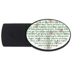 Girls Are Like Apples 2gb Usb Flash Drive (oval) by TheWowFactor