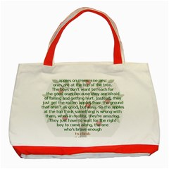 Girls Are Like Apples Classic Tote Bag (red) by TheWowFactor