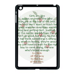 Girls Are Like Apples Apple Ipad Mini Case (black) by TheWowFactor