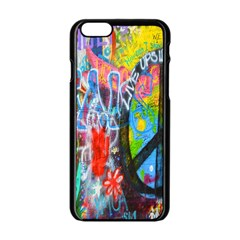 The Sixties Apple Iphone 6 Black Enamel Case by TheWowFactor