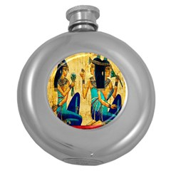 Egyptian Queens Hip Flask (round) by TheWowFactor