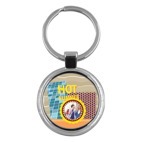 Summer By Summer Time    Key Chain (round)   Jbpi9nczevrz   Www Artscow Com Front
