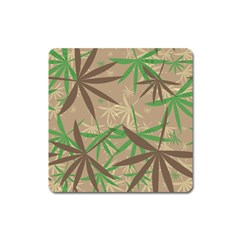 Leaves Magnet (square) by LalyLauraFLM