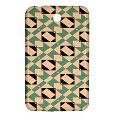 Brown Green Rectangles Pattern Samsung Galaxy Tab 3 (7 ) P3200 Hardshell Case  by LalyLauraFLM