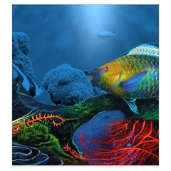 Reef Encounter Draw Bag By Dean   Drawstring Pouch (large)   Rbsnhhfywh2z   Www Artscow Com Front