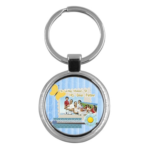 Fathers Day By Dad   Key Chain (round)   K5ma4vw43ua9   Www Artscow Com Front