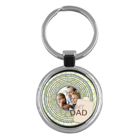 Fathers Day By Dad   Key Chain (round)   Xq58ux0uplgv   Www Artscow Com Front