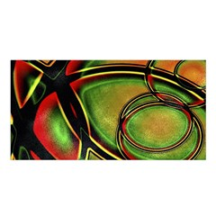 Multicolored Abstract Print Satin Shawl by dflcprintsclothing