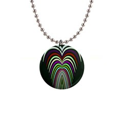 Symmetric Waves 1  Button Necklace by LalyLauraFLM