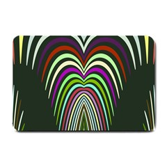 Symmetric Waves Small Doormat by LalyLauraFLM