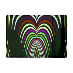 Symmetric Waves Apple Ipad Mini Flip Case by LalyLauraFLM