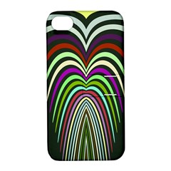 Symmetric Waves Apple Iphone 4/4s Hardshell Case With Stand by LalyLauraFLM