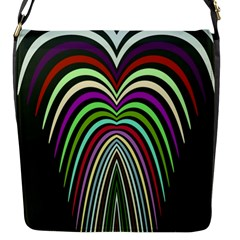 Symmetric Waves Flap Closure Messenger Bag (small) by LalyLauraFLM
