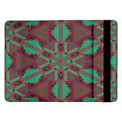 Green Tribal Star samsung Galaxy Tab Pro 12 2  Flip Case by LalyLauraFLM