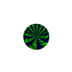Green Blue Spiral 1  Mini Magnet by LalyLauraFLM