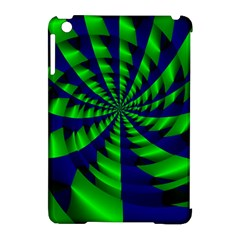 Green Blue Spiral Apple Ipad Mini Hardshell Case (compatible With Smart Cover) by LalyLauraFLM