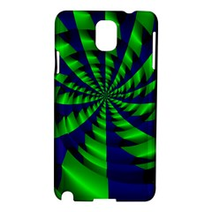 Green Blue Spiral Samsung Galaxy Note 3 N9005 Hardshell Case by LalyLauraFLM