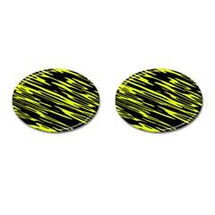 Camouflage Cufflinks (oval) by LalyLauraFLM