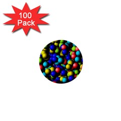 Colorful Balls 1  Mini Button (100 Pack)  by LalyLauraFLM
